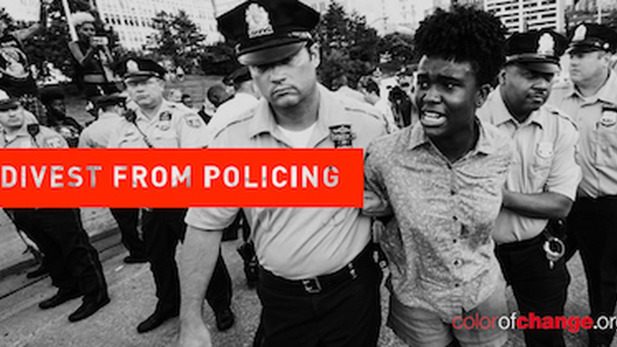 Defund federal grants to police departments that don't value Black lives.