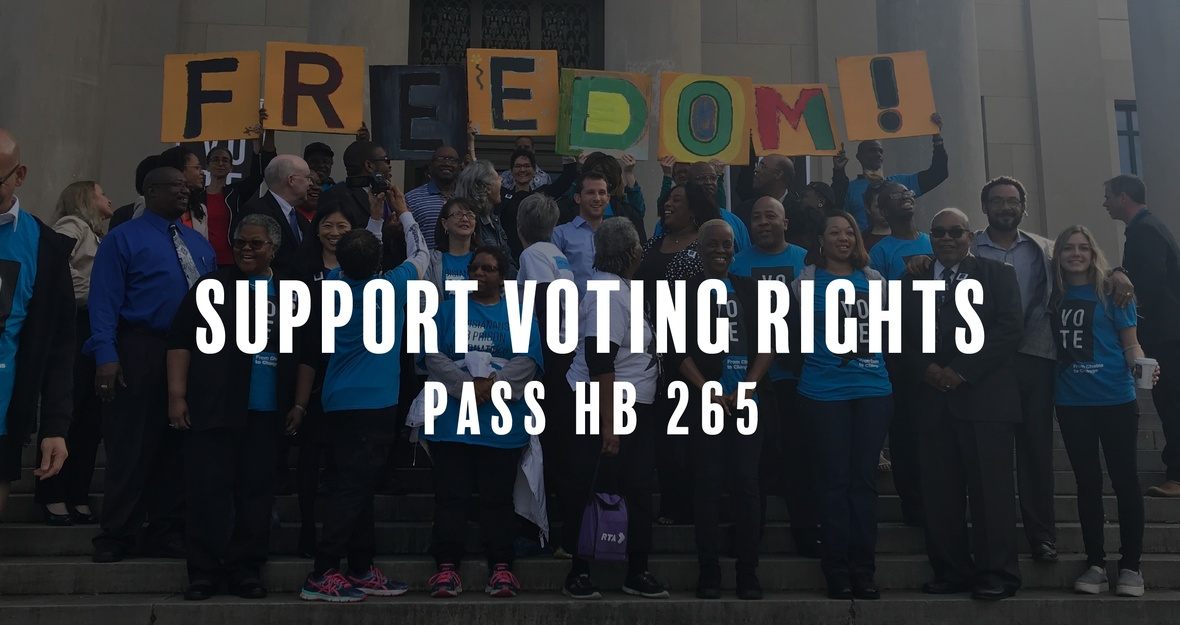 Tell the Louisiana Lawmakers: Restore Voting Rights!