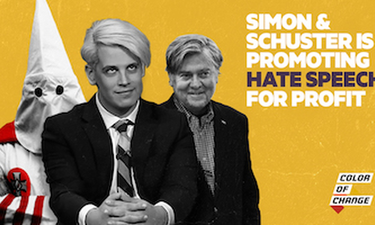 Don't let Simon & Schuster spread hate speech.