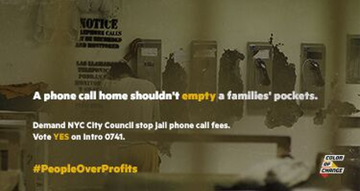 Demand New York City stop exploiting families with jail phone fees and pass Intro 0741