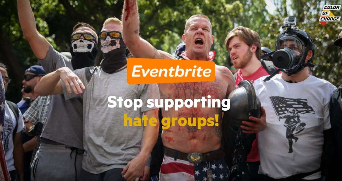 Eventbrite: Stop sponsoring hate groups!