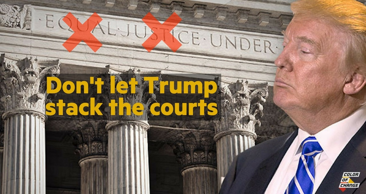 Don't let Trump stack the courts