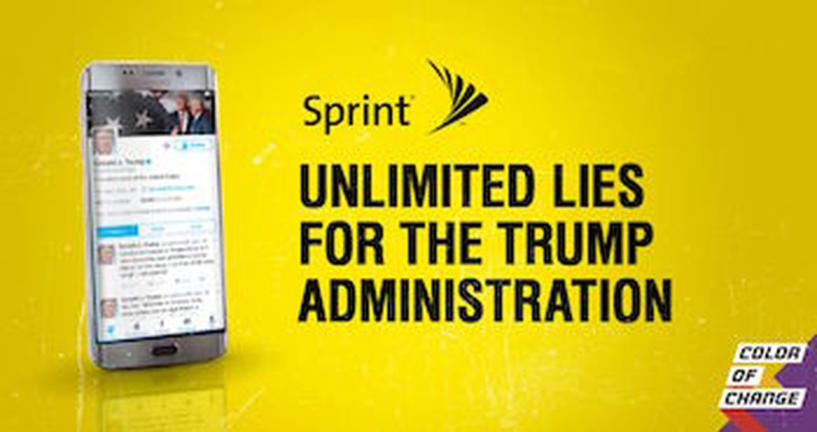 Tell Sprint: Don't help Trump lie to us about job creation!