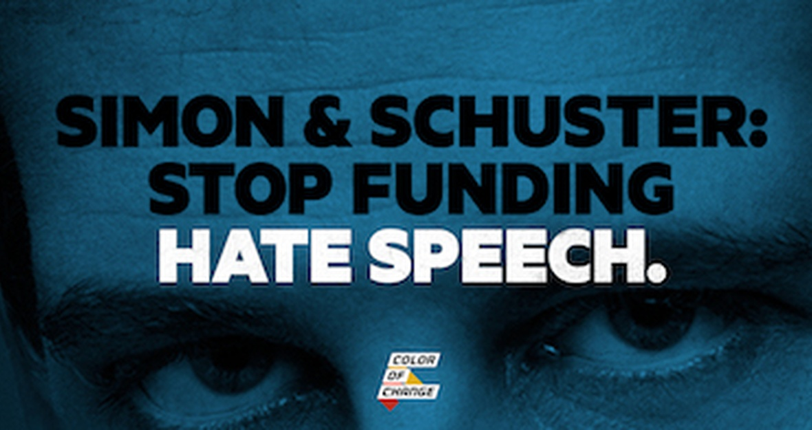 Simon & Schuster: Stop funding hate speech